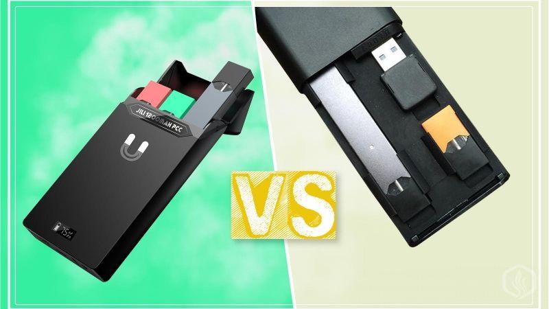 Image of JUUL pocket chargers: Typhon VS JILI