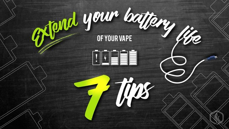 Image of 7 Ways to extend your vape's Battery life