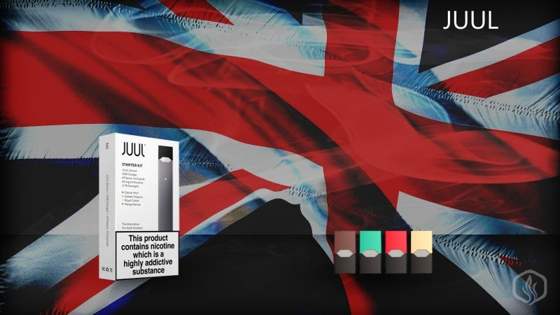 Image of JUUL e-cigs now available in the UK