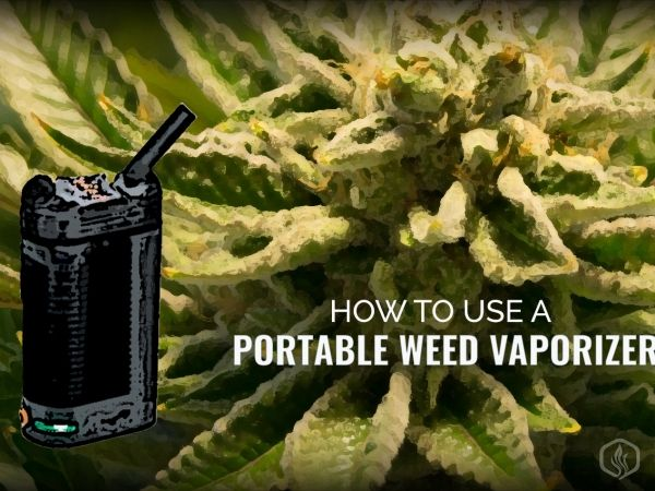 How to use a portable weed vaporizer  Image